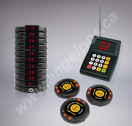 10 Restaurant Coaster Pager Guest Wireless Paging
