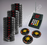 30 Restaurant Coaster Pager / Guest Wireless Paging Queuing System
