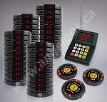 40 Restaurant Coaster Pager / Guest Wireless Paging Queuing System