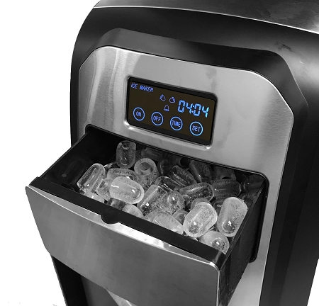 Touch Screen Stainless Steel Countertop Portable Ice Maker