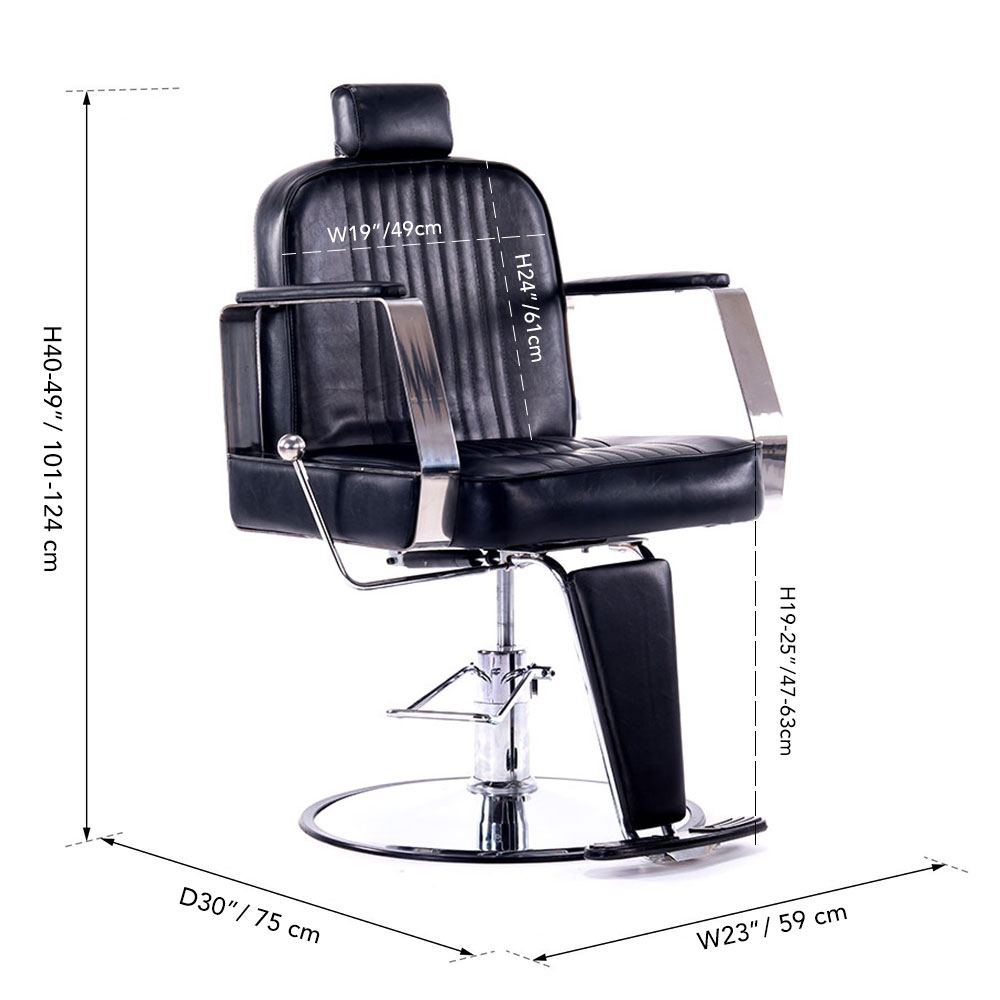 Astounding Deluxe Heavy Duty Hydraulic Reclining Barber Salon Chair Styling For Hair Cutting Beauty Spa Equipment Shampoo Tattoo Recline Bed Shaving Gmtry Best Dining Table And Chair Ideas Images Gmtryco