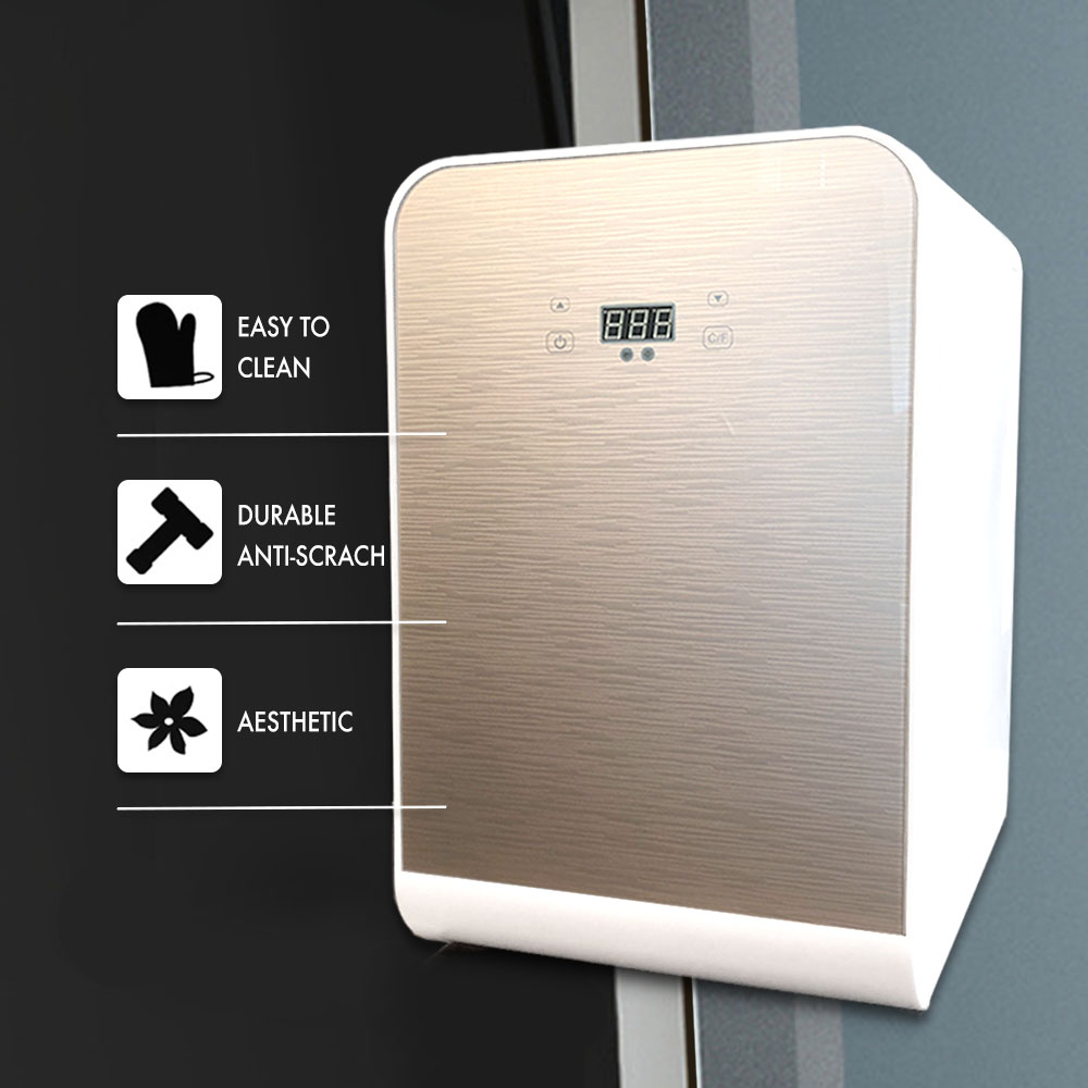 Portable Compact Personal Mini Fridge Cools & Heats, 100% Freon-Free  Refrigerator, Digital Temperature Display and Control, Plugs For Home  Outlet &