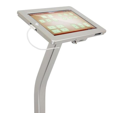 ipad kiosk floor stand enclosure w security lock u0026 charging cable for ipad 234 - Ipad Floor Stand