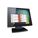 12-Inch Capacitive Multi-Touch POS TFT LED Touchscreen Monitor, True Flat Seamless Design with Adjustable POS Stand for Retail Restaurant, HDMI & VGA Inputs, High Resolution 1024 x 768