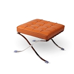 Modern Pavilion Ottoman - PU Leather with Stainless Steel Frame for Home, Living Space, Office (Black, Ottoman Only) (COPY)