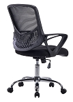 Angel Mid-Back Mesh Task Chair with Arms, Swivel & Tile, Ergonomic Design, Great for Computer Home Office Chair Desk Basic (Black)