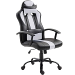 High Back Ergonomic Racing Car Style PU Leather upholstered Seat Gaming Chair Removable headrest Pillow and Lumbar Cushion for Computer Desk, Office, Home, E-Sports