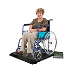 Heavy Duty Digital Portable Floor Wheelchair Scale, All-metal Contruction & Platform with Ramp Medical Electronic