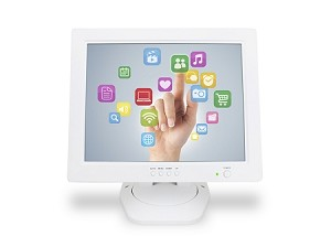 "12"" Touch Screen Monitor (white)"