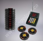10 Restaurant Coaster Pager / Guest Wireless Paging Queuing System