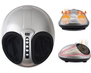 Angel Shiatsu + Air Pressure Kneading and Rolling Foot Massager Machine with Airbag Pressure Heat Timer Pain-Relief