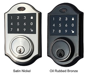 Contemporary Touchscreen Motorized Deadbolt Electronic Keyless Entry Digital Touchpad Keypad Door Lock