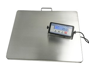 "Extra Large Platform 22"" x 18"" Stainless Steel 400lb Heavy Duty Digital Postal Shipping Scale, Powered by Batteries or AC Adapter, Great for Floor Bench Office Weight Weighing"