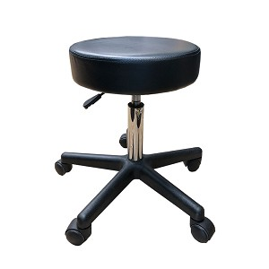 Deluxe Round Height Hydraulic Adjustable Rolling Stool, Great for Spa Facial Massage Tattoo Doctor Technician Office or Home use (Black)